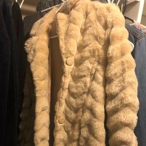 A faux fur jacket